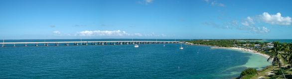 Ansicht zur Bucht in Miami-Panorama lizenzfreie stockfotos