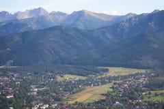 Ansicht zur Stadt von Bergen Zakopane und Tatra, Polen Lizenzfreies Stockfoto