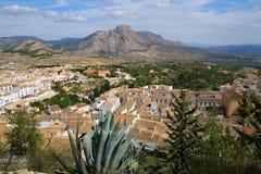 Ansichten über Vélez-Blanco (AlmerÃa, Spanien) Stockfotos