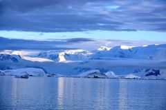 Ansichten der antarktischen Halbinsel lizenzfreie stockfotografie