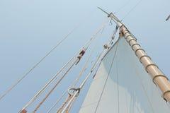 Ansichten der privaten Segelyacht. Stockfoto