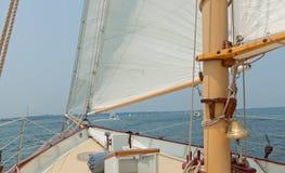 Ansichten der privaten Segelyacht. Stockfotos