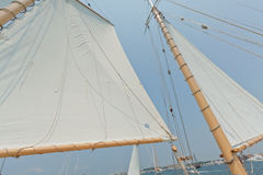 Ansichten der privaten Segelyacht. Stockbild