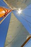 Ansichten der privaten Segelyacht. Lizenzfreies Stockbild
