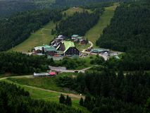 Ansichten des Erholungsort Červenohorské-Sattels stockfotos