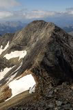 Ansichten des Espadas-Gipfels und seiner Kante Stockbild