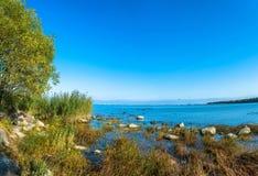 Ansichten des Finnischen Meerbusens an einem sonnigen Tag Stockfotos