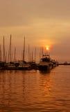Ansichten des Hafens stockbilder
