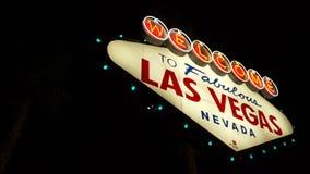 Ansichten des Las Vegas-Zeichens stock video footage