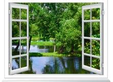 Ansichten des Teichs stockbild