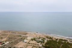 Ansichten eines Strandes in Santa Pola Lizenzfreies Stockfoto