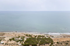 Ansichten eines Strandes in Santa Pola Lizenzfreie Stockfotos
