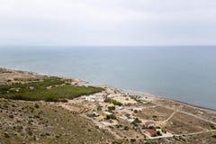 Ansichten eines Strandes in Santa Pola Lizenzfreie Stockbilder