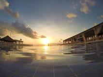 Ansichten eines Swimmingpools Stockbild