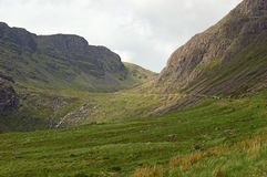 Ansichten entlang das Bealach Na-Ba Schottland Stockfotos