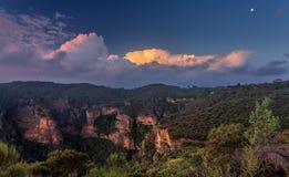 Ansichten herüber zum Norden-Ausblick Katoomba lizenzfreie stockbilder