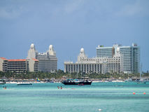 Ansichten um Aruba - Hotels Stockfotos