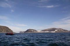 Ansichten um Svalbard stockfotos