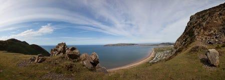 Ansichten vom Conwy Berg Stockbild