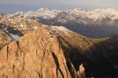 Ansichten vom Encantats-Gipfel Lizenzfreies Stockfoto