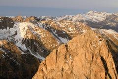 Ansichten vom Encantats-Gipfel Stockfotos