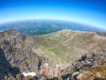 Ansichten vom Gipfel von Ben Nevis, Großbritannien Lizenzfreies Stockfoto