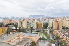 Ansichten von Algesiras, von Hafen und von Felsen von Gibraltar Stockbilder