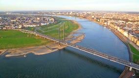 Ansichten von Dusseldorf, Deutschland stock video footage