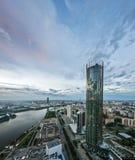 Ansichten von Ekaterinburg von der Höhe Lizenzfreie Stockbilder