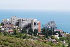 Ansichten von Gemeinde Gurzuf, Krim Stockfotos
