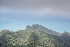Ansichten von grünen Hügeln Stockfotografie