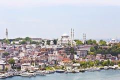 Ansichten von Istanbul und von Moschee von Sulaimaniyya Stockfoto