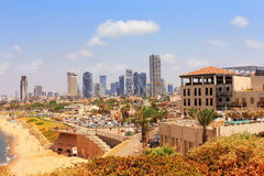 Ansichten von modernem Tel Aviv Lizenzfreies Stockfoto
