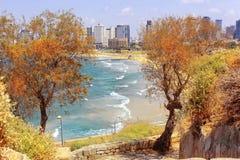 Ansichten von modernem Tel Aviv Stockbild
