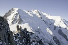 Ansichten von Mont-Blanc Stockfotos