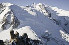 Ansichten von Mont-Blanc Stockfotografie