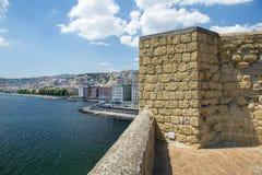 Ansichten von Neapel vom ` Ovo, Neapel, Italien Höhe Castel-engen Tals Stockbilder