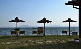 Ansichten von See Trasimeno in Italien stockfotografie