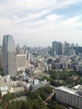 Ansichten von Tokyo von der Aussichtsplattform Stockbilder