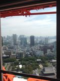 Ansichten von Tokyo von der Aussichtsplattform Stockfoto