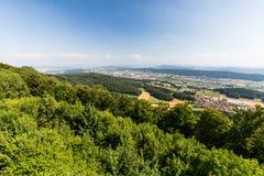 Ansichten zu vom Berg Lagern nach Zürich Lizenzfreie Stockbilder