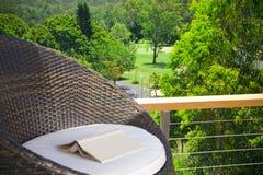 Ansichten zum Golfplatz von der Rücksortierung Lizenzfreies Stockbild
