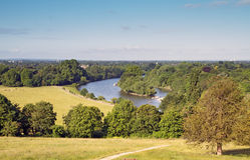 Ansichtformular-Richmond-Hügel Lizenzfreies Stockfoto