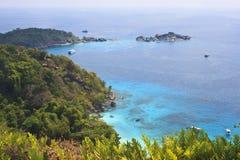 Ansichtpunkt von 4. similan Insel Lizenzfreie Stockfotografie