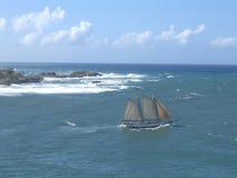 Ansichtsegelboot Lizenzfreies Stockbild