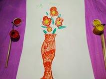 Ansichtskarte für Muttertag von einem Kind lizenzfreies stockfoto