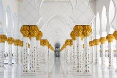 Ansichtspalten Sheikh Zayed Mosque Lizenzfreie Stockfotos