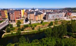 Ansichtti-Wohnsitzbezirke von Ponferrada Lizenzfreies Stockfoto