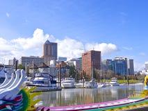 Ansichtufergegend Portland Stockbild