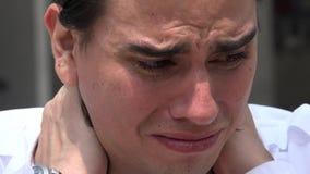 Ansiedad, ansiosa, tensión, nerviosismo almacen de metraje de vídeo